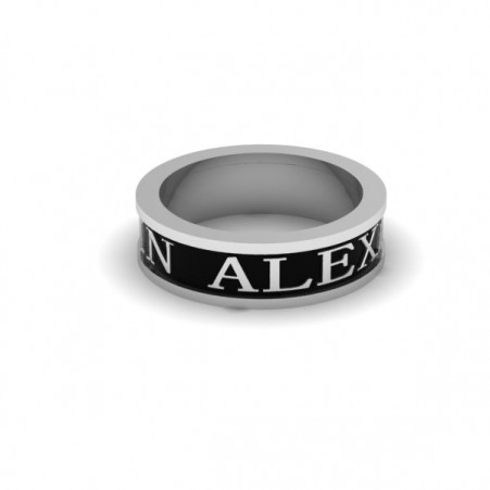 AQ ring black enamel