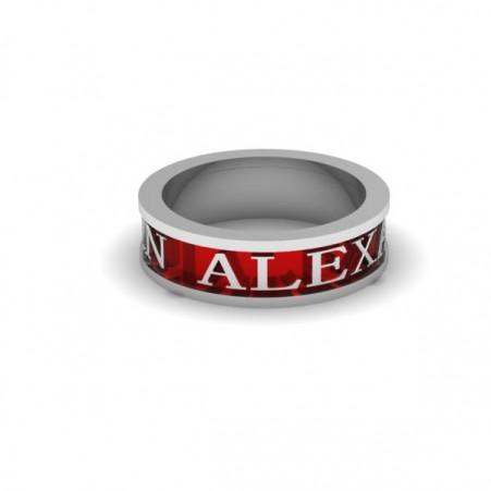 AQ ring red enamel