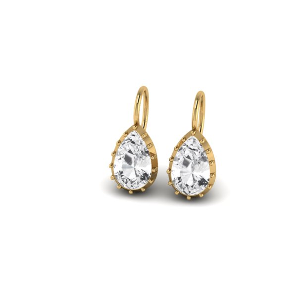 k diamond jewelry earrings pear kestenbaum drops with w round weisner drop