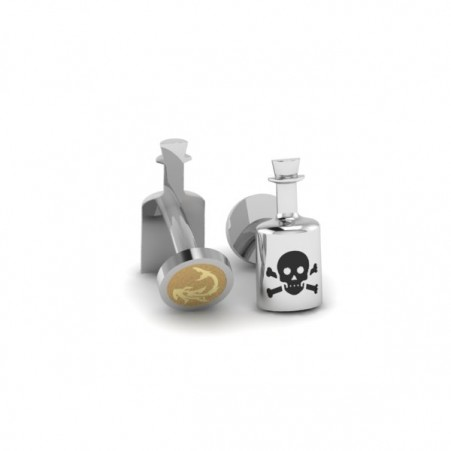 poison bottle cufflinks